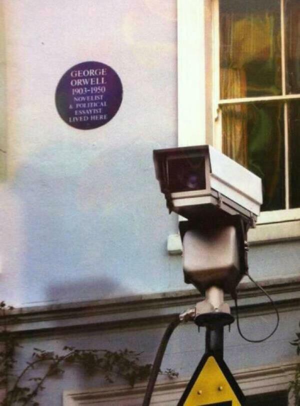 Maybe photoshop, but wonderfully ironic if not:)